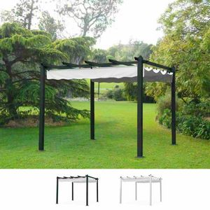 Gazebo Square 3x3 Meters Garden Aluminum Bar Hotel Restaurant FLORENCE, Square gazebo with aluminum poles