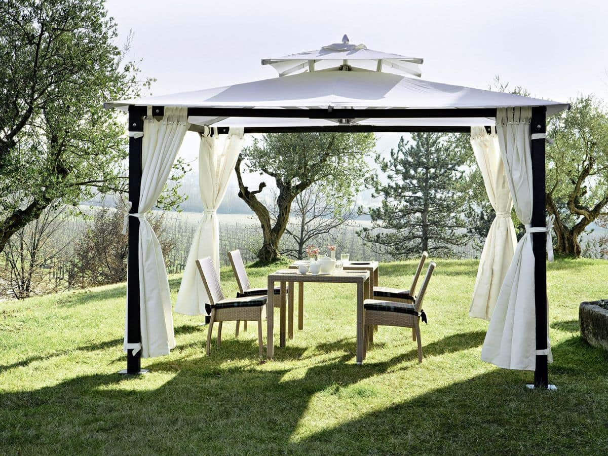 Hawaii, Iron gazebo, forgarden, with curtanis, fixable to the floor
