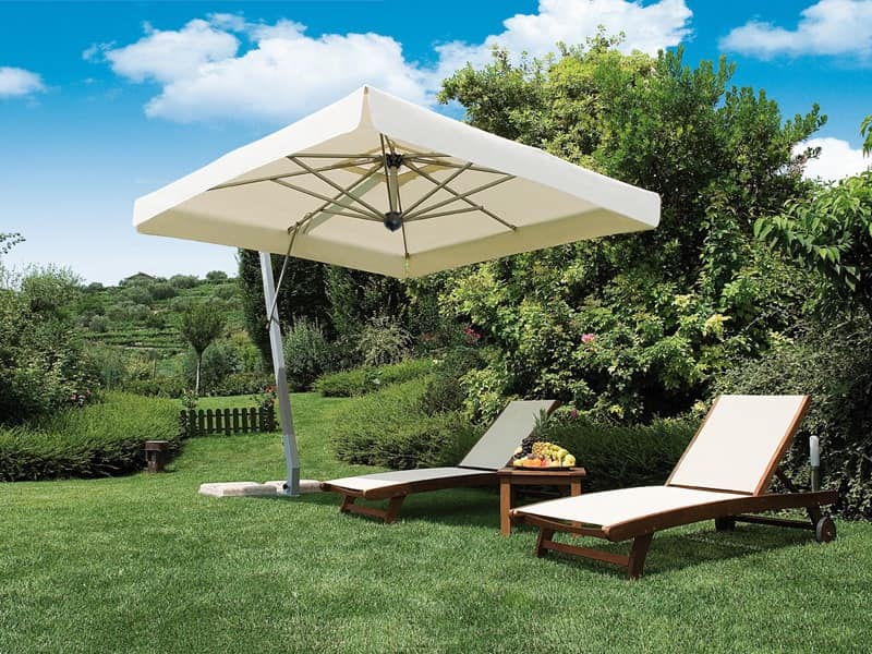 Firenze arm, Large sun umbrella, square shape