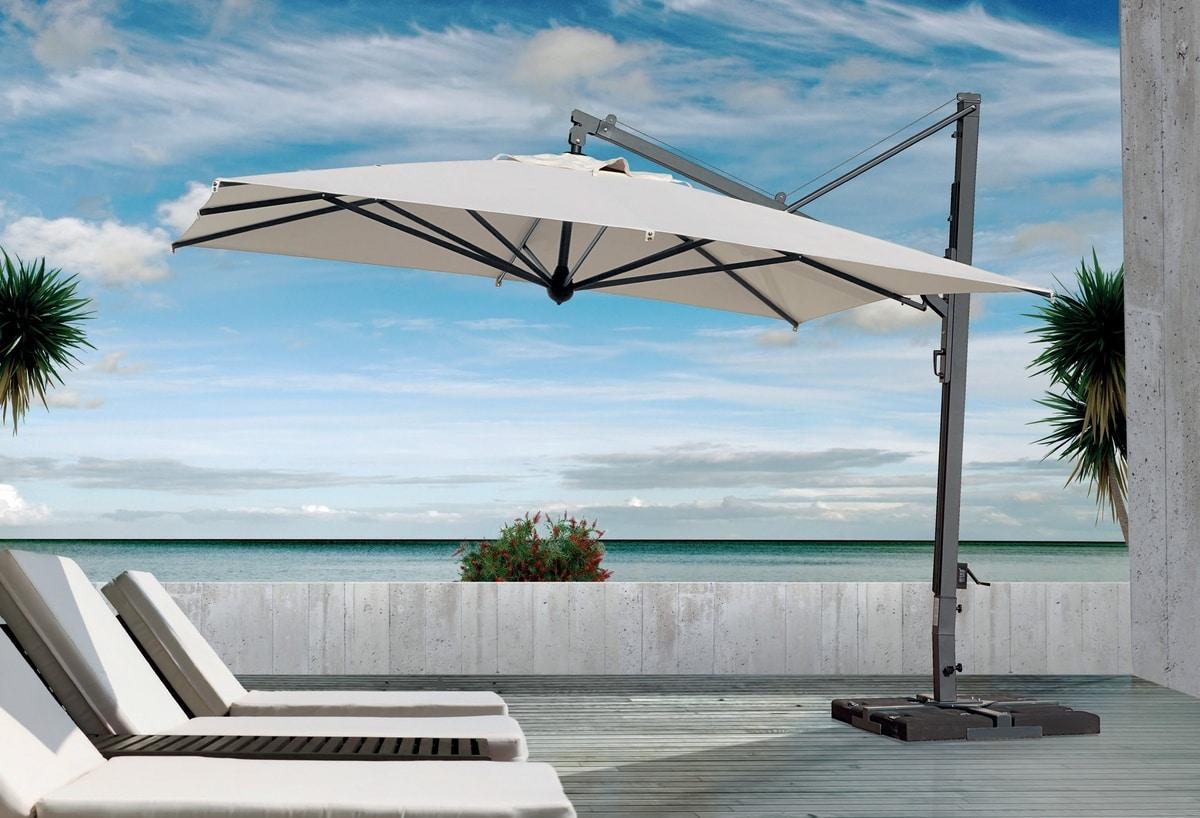 Galileo Maxi Dark 4x4, Retractable parasol for professional use