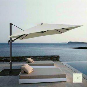 Garden parasol 3x3 square aluminum arm bar hotel VIENNA - VI303POL, Square adjustable parasol with arm