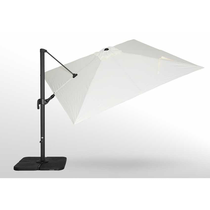 Garden parasol 3x3 square aluminum arm bar hotel VIENNA - VI303POL, Square adjustable parasol with arm
