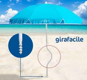 Patented beach umbrella Girafacile – GF180COT, Beach umbrella