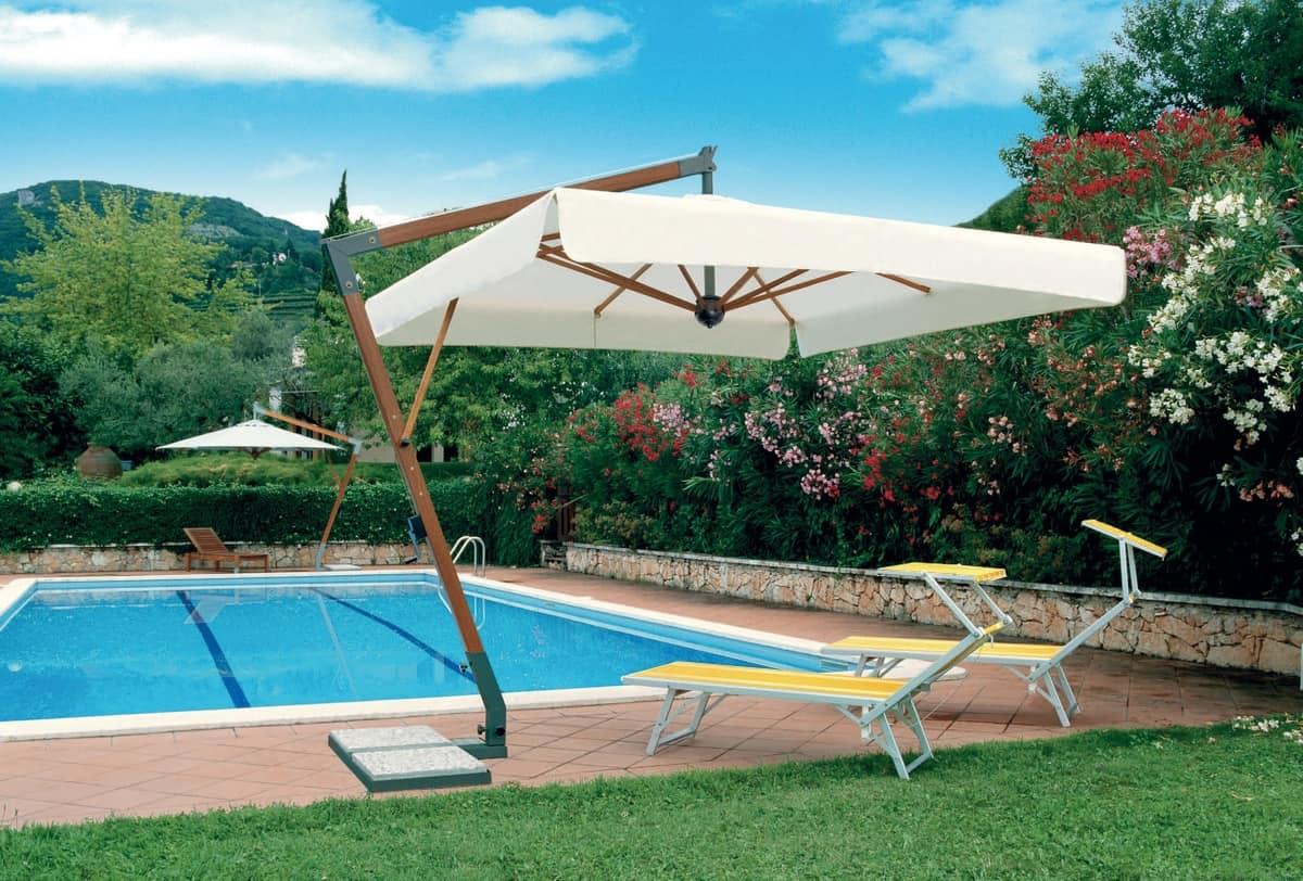 KOS Braccio, Umbrella with arm, anti-mould treated fabric