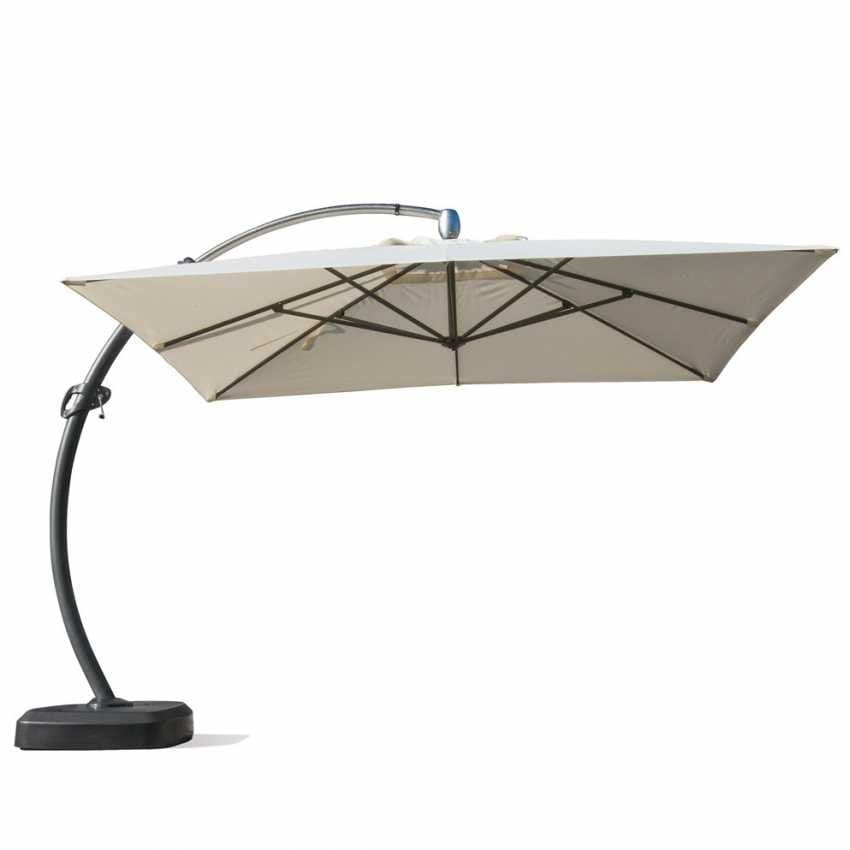 large aluminum arm garden Umbrella Copenaghen - CO350POL, Sunshade square, strong and durable