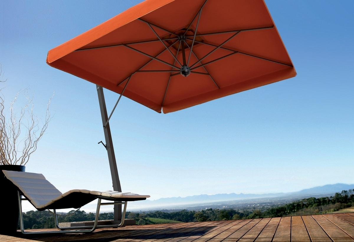Napoli arm, Sun umbrella for gardens, with aluminum structure