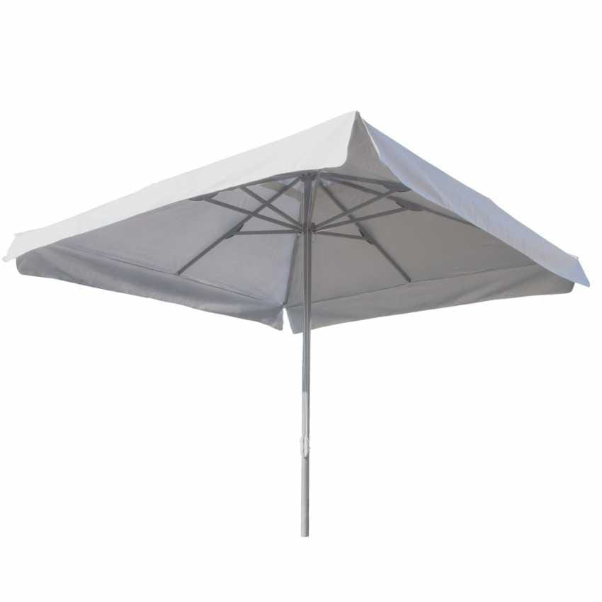 Garden parasol 3x3 aluminum square central pole hotel bar MARTE - MA300UVQ, Square garden umbrella with central pole