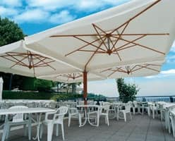 Palladio poker/double, Double sun umbrella with aluminum structure