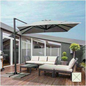 Parasol garden 2.5 meters square arm aluminum bar hotel PARADISE - PA250UVA, Square parasol with side arm