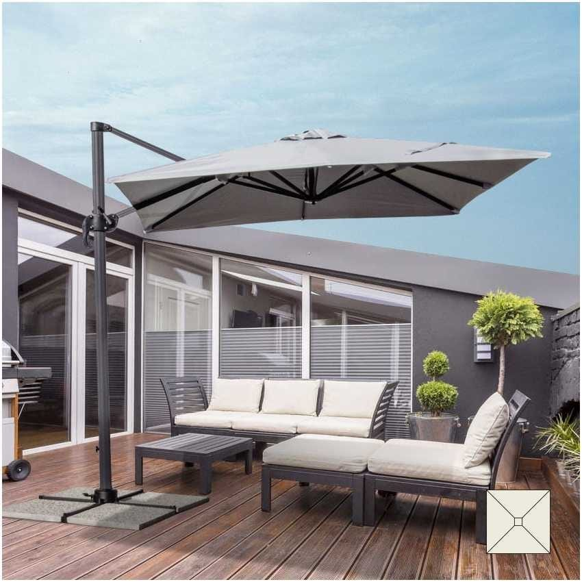 Parasol garden 2.5 meters square arm aluminum bar hotel PARADISE - PA250UVA, Square parasol with side arm