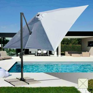 Professional aluminum garden umbrella – PA303UFR, Umbrella with arm, for swimming pools and outdoor restaurants