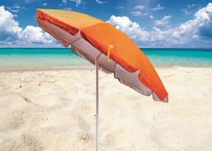 Beach umbrella with UV protection Sardegna � SA200UVA, Parasol with UVA and UVB protection suited for the beach