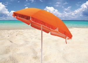 Double beach umbrella sea cotton � TR200COT, Parasol in steel and fabric suited for the beach
