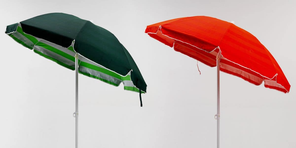 Double beach umbrella sea cotton – TR200COT, Parasol in steel and fabric suited for the beach