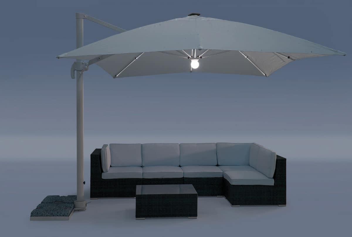 UM Cagliari Light, Aluminum umbrella with waterproof fabric