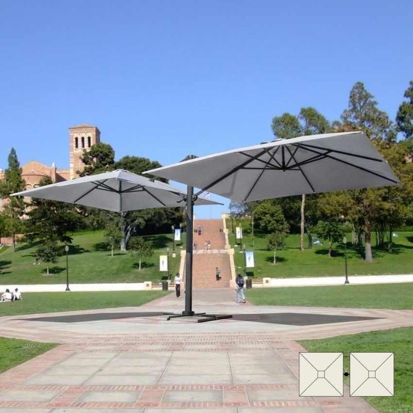 Umbrella double-arm bar Contract garden Oslo – OS303POL, Sunshade adjustable with double arm