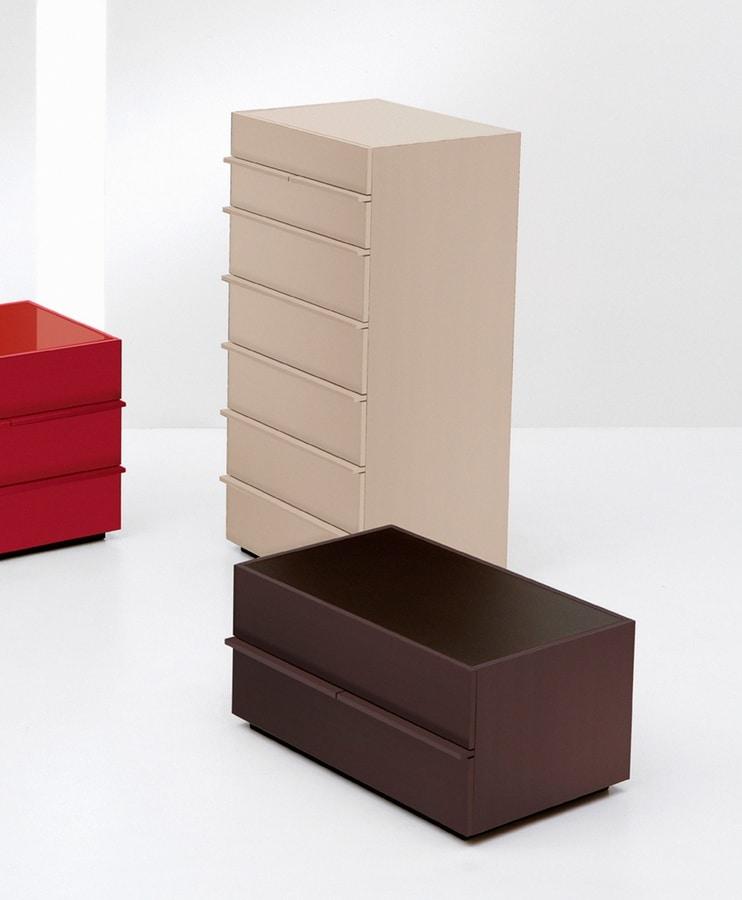 AKI dresser, 7-drawer unit in linear design, for Bedroom
