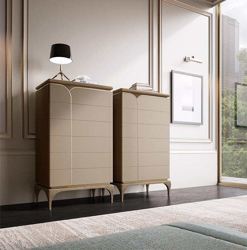 Alexander Art. A72, Wooden tall chest of drawers