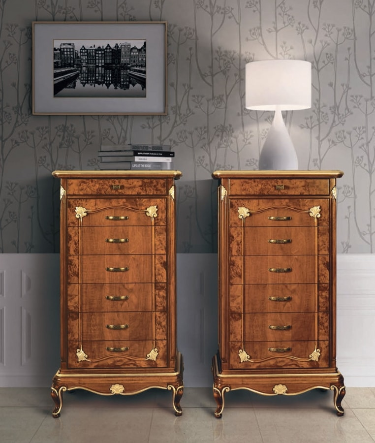 Art. 3098, Chest of 7 drawers, in art deco style