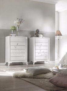 Camelia tall chest of drawers, Weekly drawer unit with a clean design