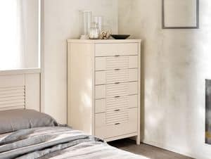 Ciro Chest of 7 drawers, Chest of 7 drawers made of solid wood, for bedrooms
