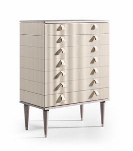Cocoon Art. C313, Tall chest of drawers, lacquered