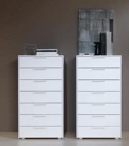 DOMINO settimanale, White lacquered dresser