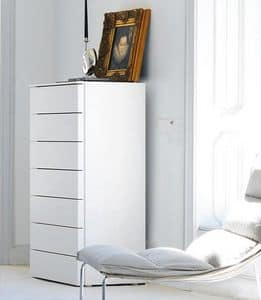 JOLLY dresser, Lacquered dresser, with 7 drawers