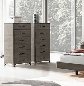 Maia tall chest of drawers, Tall chest of drawers in wood