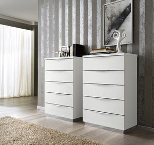Onda tall chest of drawers, Tall chest of 5 drawers