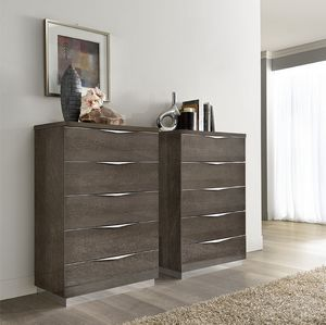 Platinum tall chest of drawers, Weekly chest of drawers with metal plinth