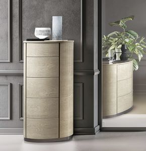 Round tall chest of drawers, Rounded tallboy