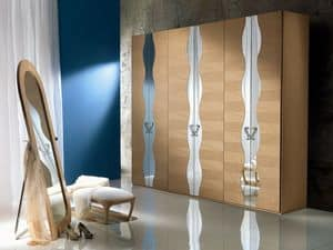 AR18 Iride, Modular wardrobe, internal structure in melamine
