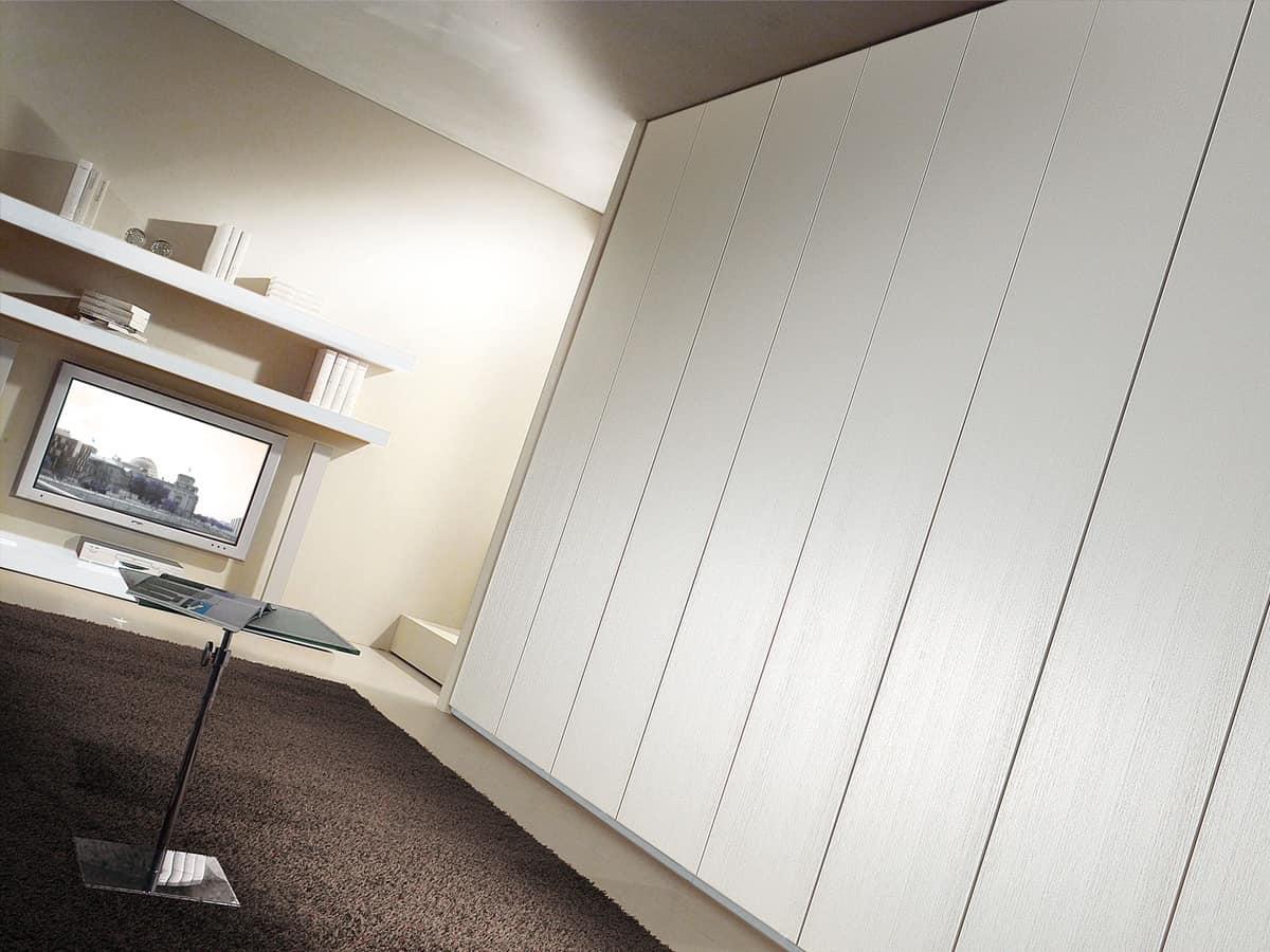 Wardrobe Idra 05, Linear wardrobe, door opening up to 165 °