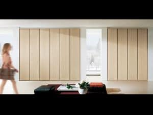 Wardrobe Idra 01, Modular wardrobe with hinged doors, in simple style
