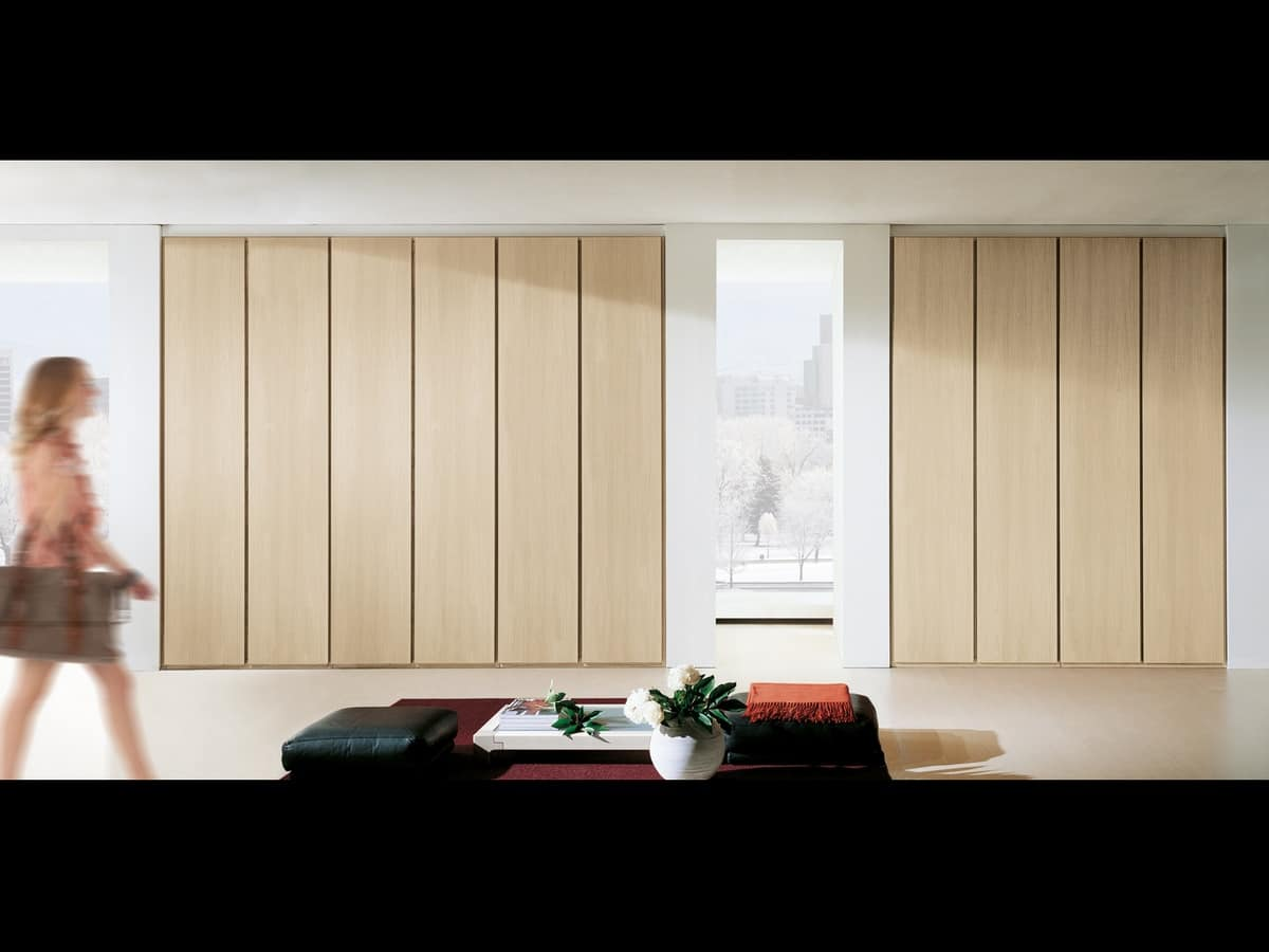 Wardrobe Idra 01, Modular wardrobe with hinged doors, in simple style