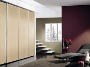 Wardrobe Coo 01, Wardrobe with sliding amortized doors, for hotels