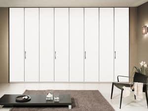 Wardrobe Paro 01, Modular wardrobe, smooth movement, modern style