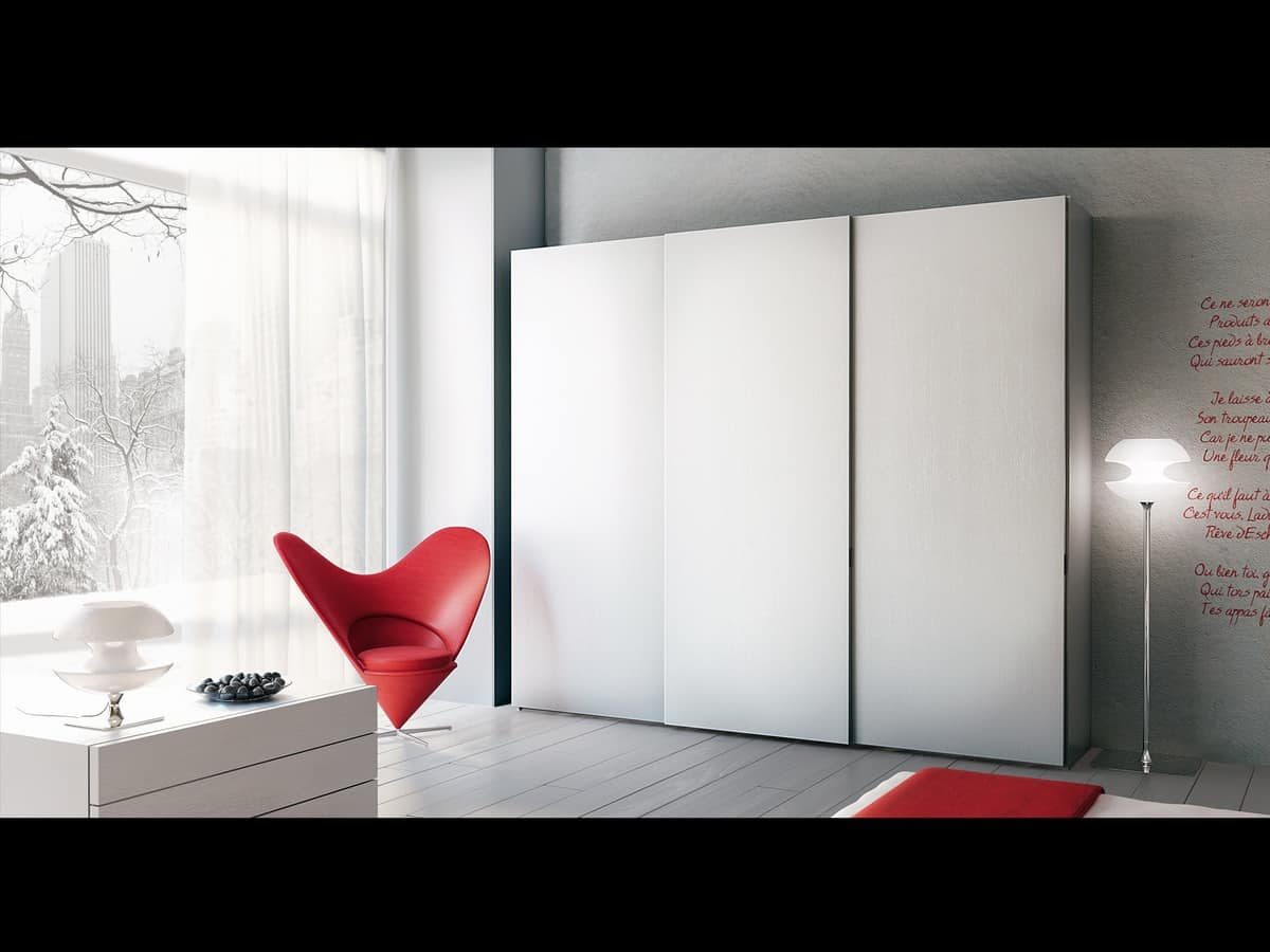 Wardrobe Zen 01, Wardrobe with sliding doors, for hotels and offices