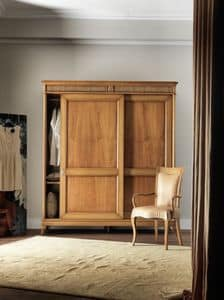 Art. CA718, Wooden wardrobe with sliding doors, fro classic style bedroom