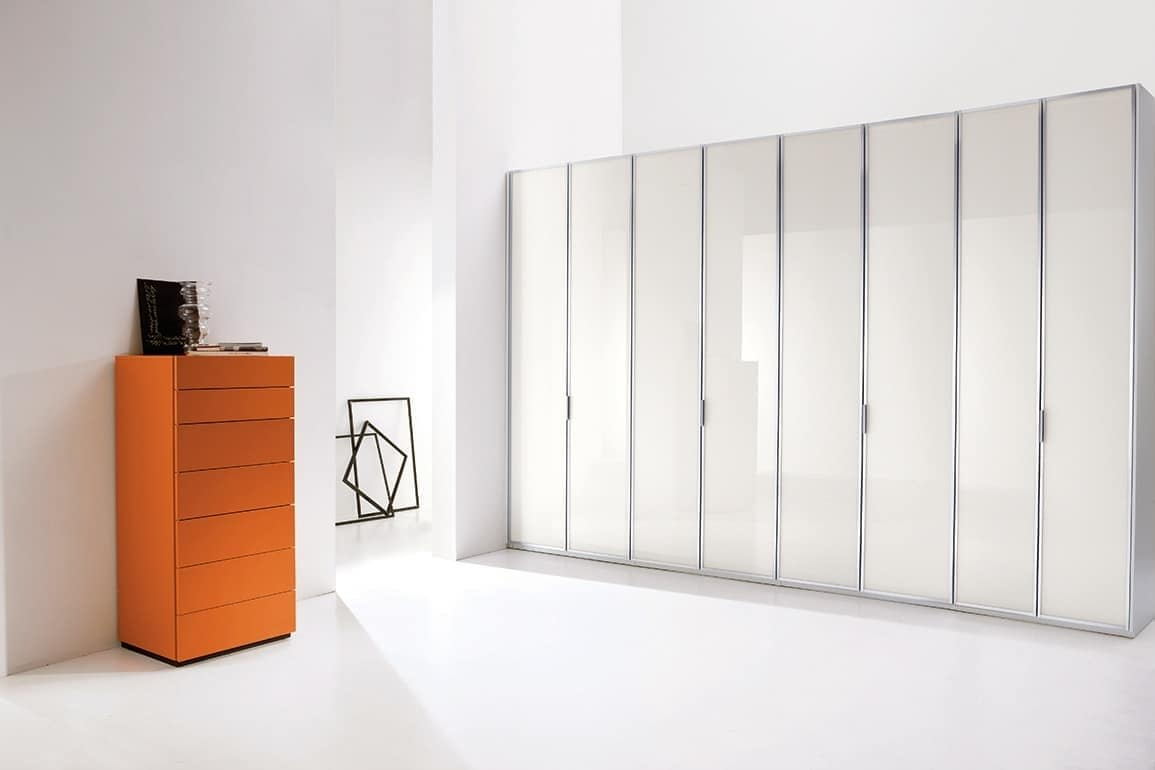 ATLANTE CLIP comp.01, System cabinets in essential style