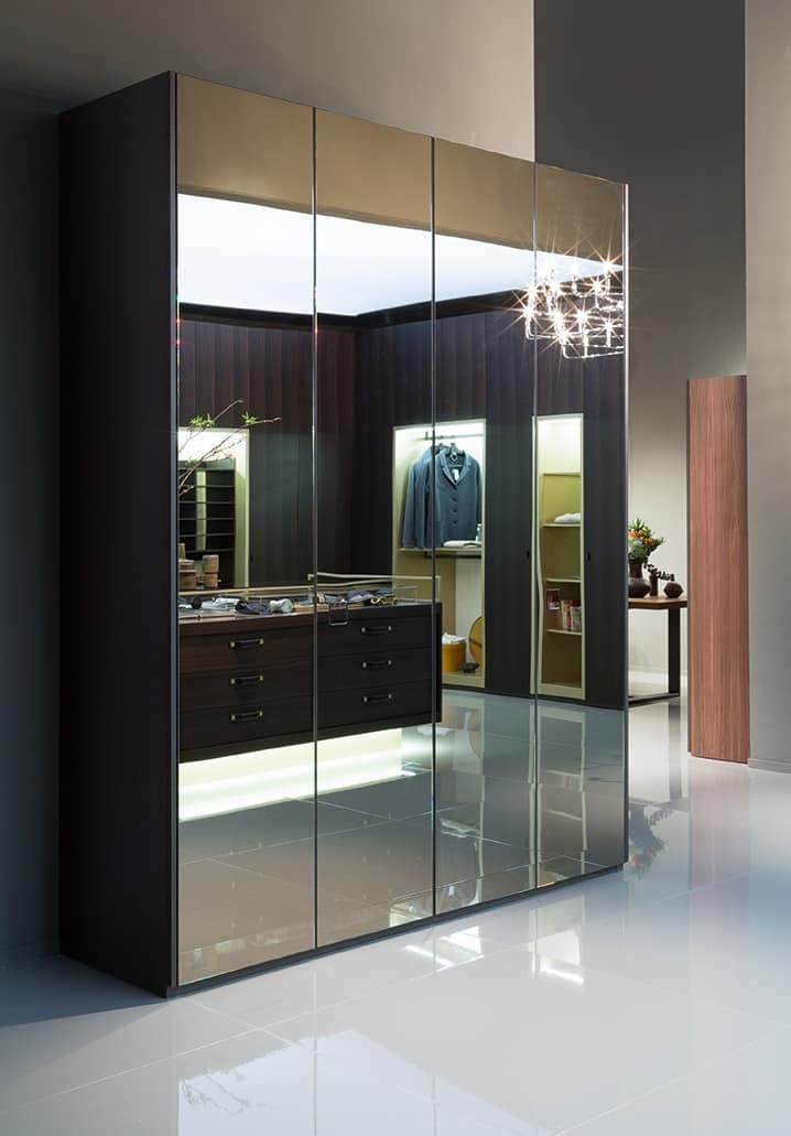 ATLANTE SEVENTY comp.03, Wardrobe with mirrored doors, in various sizes