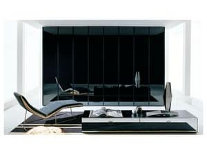 ATLANTE SHEER comp.02, Wardrobe with invisible handle, for luxury hotels