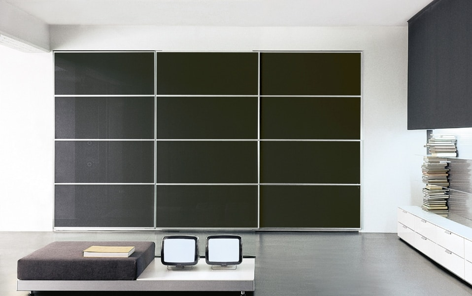 AVANTGARDE, Elegant wardrobe with sliding doors, various finishes