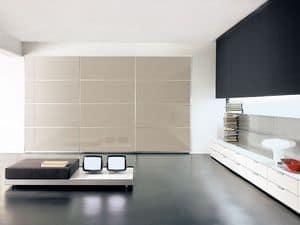 AVANTGARDE, Elegant wardrobe with sliding doors, various finishes