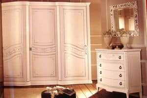 Boheme, Wardrobe with 3 doors for bedrooms, in luxury classic style