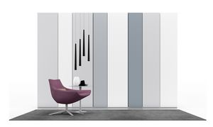 BRIO MULTICOLOR, Lacquered wardrobe with hinged door