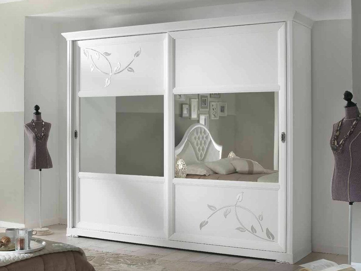White Wardrobe With Mirror Sliding Doors Idfdesign