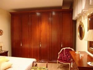 Chery, 6 doors wardrobe in cherry, for bedrooms