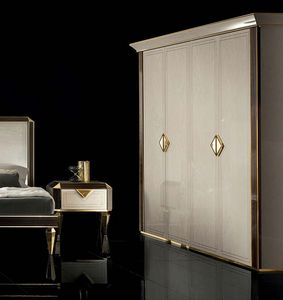 DIAMANTE wardrobe, Classic style wardrobe for bedroom